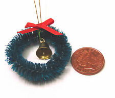 1:12 Scale Green Christmas Wreath With A Bell Tumdee Dolls House Accessory 341