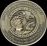 NASA APOLLO 17 40TH ANNIVERSARY MOON FLOWN METAL OFFICIAL COMMEMORATIVE