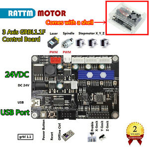 3 Axis GRBL Control Board USB Controller Card for CNC Engraving Laser Machine