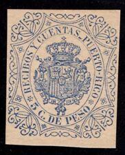 1882 Puerto Rico, Recibos y Cuentas 5 C. De Peso Stamp, Mnh
