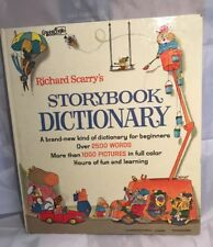 Richard Scarry's STORYBOOK DICTIONARY 1966 HB GC Vintage Scarry Book