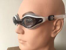 Speedo Mariner Supreme Adult Swimming Goggles Black White - One Size (I)