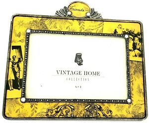 Yellow, Vintage Home Collections Picture Frame 6 x 4