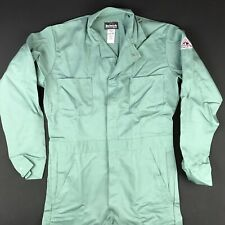 New BULWARK FR Flame Resistant Green ARC 11.2 Coveralls Small Long 38
