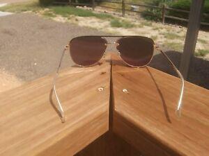 quay australia aviator sunglasses high key rimless 126