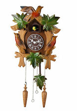 12-inch Paragraph Color Wood Hand-carved of Forest Birds Cuckoo Clock-C00194