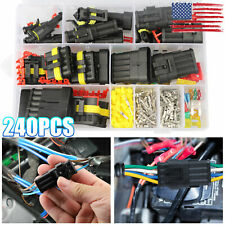 240pcs 123456pin Way Waterproof Car Auto Electrical Wire Connector Plug Kit