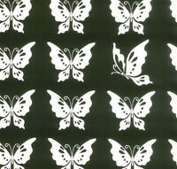 """Moda Half Moon Butterfly Black & White 100% Cotton Quilting Fabric 44/45""""SBY"""