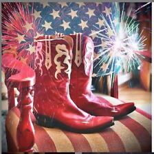 JB HILL Red/Bone Italian Kangaroo Leather Western Cowboy Boot Style #29 7B $1390