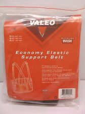 """Valeo 7"""" Elastic Support Belt with Detachable Suspenders Black Size Small (T)"""