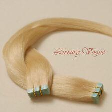 "20"" Salon Remy A+ European Hair Seamless Tape Extension #613 (Platinum Blonde)"