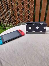 Nintendo Switch Dock Sock - Dock Cover - Screen Protector - Black + White Polka