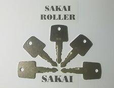 5 Sakai Roller Keys Heavy Construction Equipment Ignition Asphalt Roller Key