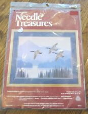 Needle Treasures Wilderness Canada Geese Stitchery Kit Crewel Wool Yarn Autum
