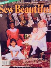 VINTAGE ISSUE~SEW BEAUTIFUL~Holiday 1989~Girl's Dress Pattern Sz 2-14 Doll Dress