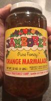 Vintage NOS Retro 1960's Jamboree Orange Marmalade Sealed Glass Jar Unopened