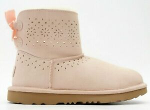 New UGG K Dae Sunshine Perf Light Pink Youth Winter Boots US 6 EU 36