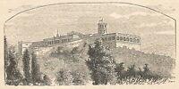 A6156 Chapultepec - Castello - Stampa Antica del 1925 - Incisione