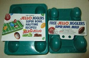 2 NFL JELL-O Jigglers Super Bowl XXI New Orleans Helmet Mold Shots