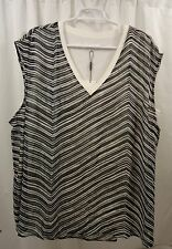 Women's Calvin Klein Chiffon Overlay  Shirt  3X