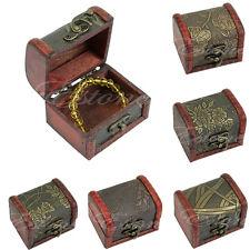 Retro Wooden Case Box Jewelry Pearl Bracelet Necklace Hot Storage Organizer Gift