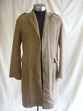 Mens Coat - Reiss size S, light brown, soft touch cotton, smart, used marks 2381