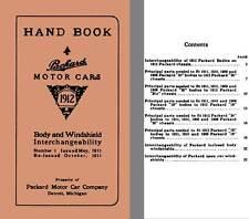 Packard 1912 - Hand Book Packard Motor Cars- Body & Windshield Interchangeabilit