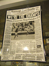 1971 Pittsburgh Pirates Post Gazette We'Re The Champs Glass Ashtray Rare