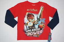 NWT LEGO CHIMA 2 in1 long sleeve shirt BOY  size 4 red