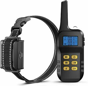 PETDIARY Dog Training Collar Shock 3,300ft Rechargeable Night Light Trainer Beep