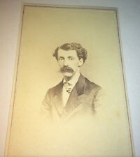 Antique Victorian Southern American Fashion Mustache Gent! New Orleans CDV Photo