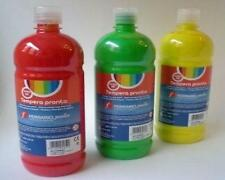 01 FLACONE DA 500ml DI TEMPERA PRONTA FERRARIO Junior - COLORI ASSORTITI -