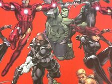 Avengers/Marvel Fabric - Red - 140cm wide -  Cotton By The Metre