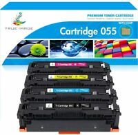 4 Toner w/Chip Compatible for Canon 055 Cartridge 055 imageCLASS MF741CDW 743CDW