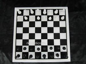 """12 Inches Marble Coffee Table Top Hand Made Chess Board table with King Size 2"""""""