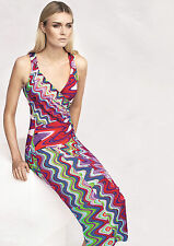 STRANDKLEID 42 NEU Sommerkleid Maxikleid Viskose Hippie Damenkleid apart 870407