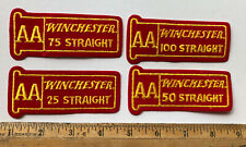 Lot Of 4 Winchester Patch AA 25 50 75 100 Straight Trap Skeet Vintage Iron On