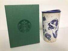 Starbucks Logo Travel Mug Coffee SIren Blue Mermaid Anniversary Tumbler 12oz