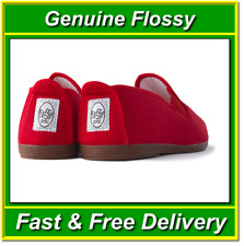 Genuine Red Flossy Shoes Size UK4 EU37 Canvas Plimsoll Espadrilles Flossys