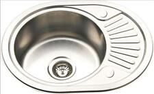 Compact Inset Mount Kitchen Sink Small Polished Stainless Steel Counter Top RB58