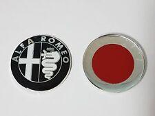FREGIO STEMMA ALLUMINIO PER ALFA ROMEO MITO - NERO E CROMATO - 74MM
