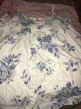 Victoria's Secret Cotton Floral Baby Doll  Button Up Nightie Dress Ex Large