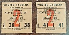 More details for two the beatles concert tickets bournemouth winter gardens november 16th 1963