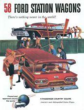 1958  FORD V-8/SIX  STATION WAGON SALES BROCHURE