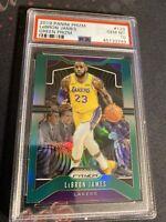 2019-20 Prizm Basketball Green #129 Lebron James PSA 10 Los Angeles Lakers