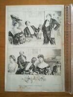Dessin Humour Maurice Mahut 1904 N°1 AU RESTAURANT