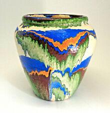 Ozark Roadside Pottery Vintage Tourist Art Pot Beautiful !