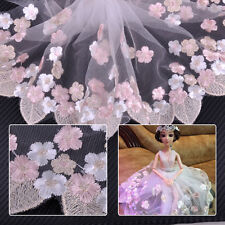 1 Yard Coloful Embroidery Tulle Lace Trim Lace Fabric Wedding Dress DIY Sewing