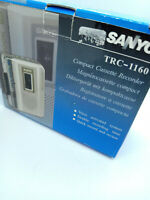Sanyo TRC-1160 Cassette Tape Dictaphone Voice Recorder Dictation Handheld Silver
