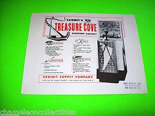 TREASURE COVE By EXHIBIT 1955 ORIGINAL RIFLE GUN ARCADE MACHINE PROMO SALE FLYER